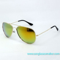 Metal Sunglasses with Gray Mirror Lenses